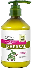 Fragrances, Perfumes, Cosmetics Smoothing Shine Hair Conditioner with Raspberry Extract - O'Herbal