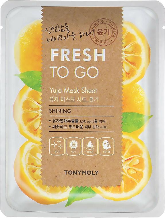 Glow Yuja Sheet Mask - Tony Moly Fresh To Go Mask Sheet Yuja