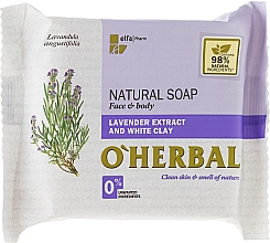 Fragrances, Perfumes, Cosmetics Natural Lavender Extract & White Clay Soap - O'Herbal Natural Soap