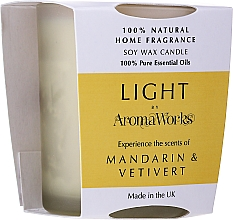 "Fragrances, Perfumes, Cosmetics Scented Candle ""Mandarin & Vetiver"" - AromaWorks Light Range Mandarin & Vetivert Candle"