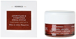Fragrances, Perfumes, Cosmetics Anti-Wrinkle Day Cream with Chestnut - Korres Castanea Arcadia Antiwrinkle&Firming Day Cream