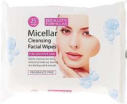 Fragrances, Perfumes, Cosmetics Cleansing Facial Wipes - Beauty Formulas Micellar Cleansing Facial Wipes