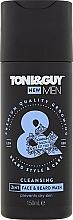"Fragrances, Perfumes, Cosmetics Beard and Mustache Shampoo ""Moisturizing"" - Toni & Guy Men Cleansing 2in1 Face & Beard Wash"