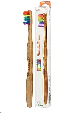 Fragrances, Perfumes, Cosmetics Bamboo Toothbrush, rainbow - The Humble Co. Proud Rainbow Soft Toothbrush