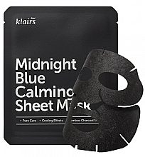 Fragrances, Perfumes, Cosmetics Soothing Face Mask - Klairs Midnight Blue Calming Sheet Mask