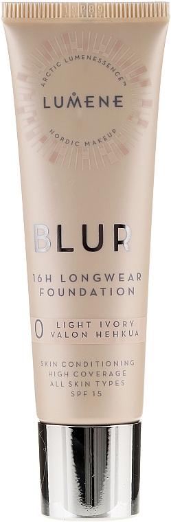 Long-Lasting Foundation - Lumene Blur 16H Longwear Foundation SPF15 2 Soft Honey