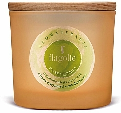"Fragrances, Perfumes, Cosmetics Scented Candle in Glass ""Right Energy"" - Flagolie Fragranced Candle Right Energy"