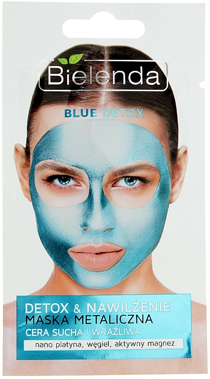 Metal Mask for Dry and Sensitive Skin - Bielenda Blue Detox