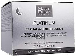 Fragrances, Perfumes, Cosmetics Facial Night Cream - MartiDerm Platinum Gf Vital Age Night Cream