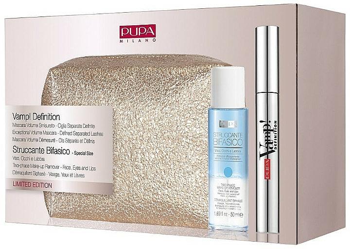 Set - Pupa Limited Edition (mascara/8ml + remover/50ml + bag) — photo N1
