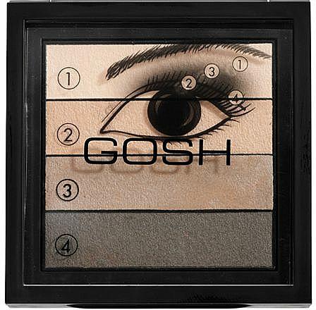 Eyeshadow 4-Shades - Gosh Quattro Smokey Eyes Palette