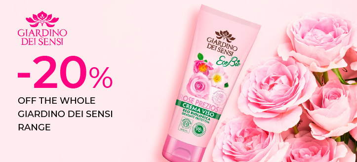 20% off the whole Giardino Dei Sensi range. Prices on the site are indicated with a discount