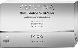 Fragrances, Perfumes, Cosmetics Women Anti Hair Loss Treatment Complex 1900 - Crescina Hair Follicular Island Re-Growth Anti-Hair Loss Complete Treatment 1900 Woman