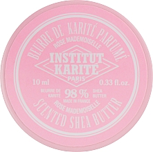 Fragrances, Perfumes, Cosmetics Rose Sceted Shea Butter 98% - Institut Karite Rose Mademoiselle Scented Shea Butter