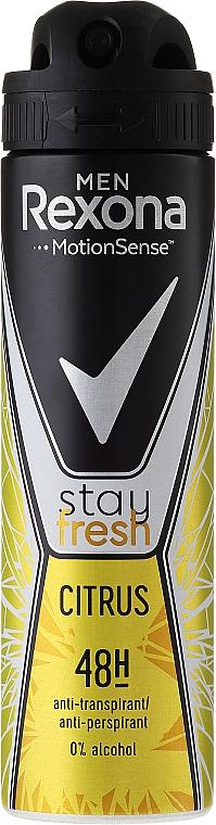 "Deodorant-Spray ""Citrus"" - Rexona Men Stay Fresh Citrus Deodorant Spray"