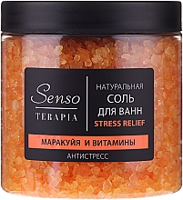 "Fragrances, Perfumes, Cosmetics Natural Bath Salt ""Passion Fruit & Vitamins"" - Senso Terapia Stress Relief Salt"