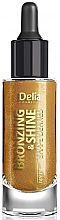 Fragrances, Perfumes, Cosmetics Body, Face & Hair Dry Gold Oil - Delia Shape Bronzing & Shine