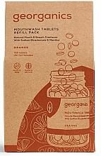 "Fragrances, Perfumes, Cosmetics Mouthwash Tablets ""Orange"" - Georganics Mouthwash Tablets Refill Pack Orange (refill)"