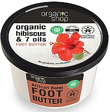 "Fragrances, Perfumes, Cosmetics Foot Butter ""African Balm"" - Organic Shop Organic Hibiscus & 7 Oils Foot Butter"