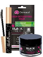 Fragrances, Perfumes, Cosmetics Set - Dermacol Black Magic (f/gel/50ml + f/mask/1pc + mascara/10ml)