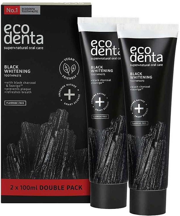 Fluoride-Free Black Whitening Toothpaste - Ecodenta Black Whitening Toothpaste Set — photo N1