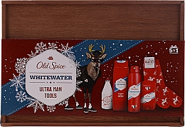 Fragrances, Perfumes, Cosmetics Set - Old Spice Whitewater Wooden (deo/50g + sh/gel/250ml + ash/lot/100ml + deo/spray/150ml)