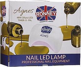 Fragrances, Perfumes, Cosmetics Nail Lamp LED, black - Ronney Profesional Agnes Pro LED 48W (GY-LED-032)