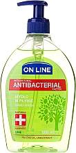 Fragrances, Perfumes, Cosmetics Liquid Soap with Dispenser - On Line Antibacterial Lime Soap