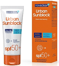 Fragrances, Perfumes, Cosmetics Facial Sun Protective Cream for Dry Skin - Novaclear Urban Sunblock Protective Cream SPF50