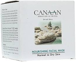 Fragrances, Perfumes, Cosmetics Nourishing Milk for Normal & Dry Skin - Canaan Minerals & Herbs Nourishing Facial Mask Normal to Dry Skin