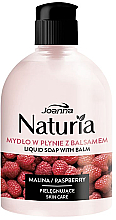 "Fragrances, Perfumes, Cosmetics Liquid Soap ""Raspberry"", flip top - Joanna Naturia Raspberry Liquid Soap"