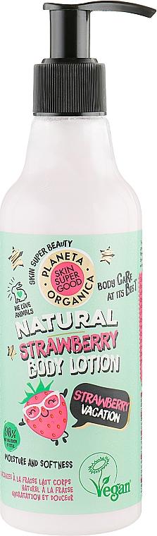 "Body Lotion ""Strawberry Vacation"" - Planeta Organica Natural Body Lotion Strawberry Vacation"