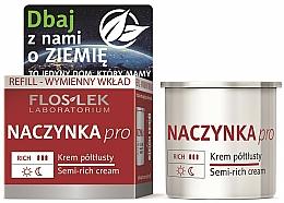 Fragrances, Perfumes, Cosmetics Semi-Oily Face Cream - Floslek Dilated Capillaries Semi-Rich Cream Refill (refill)