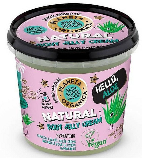 """Body Cream-Jelly """"Hello, Aloe"""" - Planeta Organica Natural Body Jelly Cream Hello Aloe"""