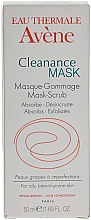 Fragrances, Perfumes, Cosmetics Deep Cleansing Absorbent Gommage Mask for Problem Skin - Avene Exfoliating Absorbing Cleanance Mask-Scrub