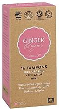 "Fragrances, Perfumes, Cosmetics Tampons with Applicator ""Mini"", 16 pcs - Ginger Organic"