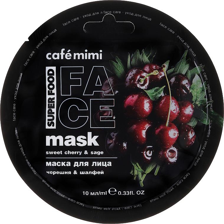 Sweet Cherry & Sage Face Mask - Cafe Mimi Face Mask