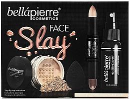 Fragrances, Perfumes, Cosmetics Set - Bellapierre Face Slay Kit Dark/Deep (stick/8.6g + powder/6.5g + spray/70ml + sponge/1pcs)