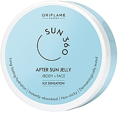 Fragrances, Perfumes, Cosmetics After Tan Face and Body Jelly - Oriflame Sun 360 After Sun Jelly Body + Face Ice Sensation