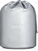 """Fragrances, Perfumes, Cosmetics Makeup Pouch """"Allbeauty"""", silver - Makeup"""