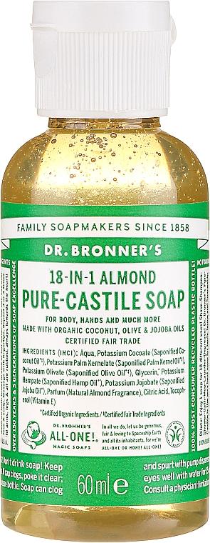 """Liquid Soap """"Almond"""" - Dr. Bronner's 18-in-1 Pure Castile Soap Almond"""