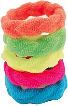 Fragrances, Perfumes, Cosmetics Multicolored Hair Ties Set, 5 pcs - IDC Institute Design Hair Bands Pack