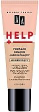 Fragrances, Perfumes, Cosmetics Foundation - AA Help Antibacterial No Transfer Moisture & Calm Foundation