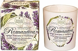 "Fragrances, Perfumes, Cosmetics Scented Candle ""Tuscan Lavender & Verbena"" - Nesti Dante RomanticaTuscan Lavender & Verbena"
