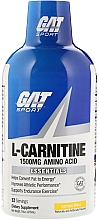 Fragrances, Perfumes, Cosmetics Liquid L-Carnitine 1500, lemun - GAT Sport L-Carnitine Amino Acid Lemon Blast