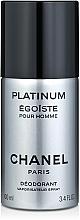 Fragrances, Perfumes, Cosmetics Chanel Egoiste Platinum - Deodorant