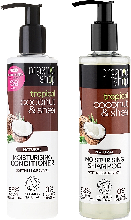 Hair Care Kit - Organic Shop (h/shm/280ml + h/cond/280ml)