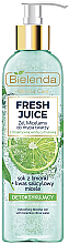 Fragrances, Perfumes, Cosmetics Detoxifying Micellar Gel - Bielenda Fresh Juice Detox Lime