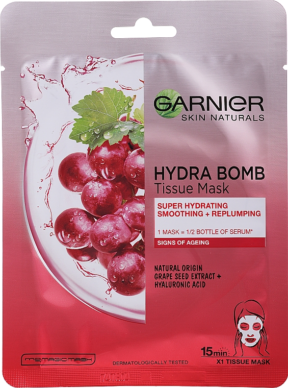 Super Moisturizing Sheet Mask for Skin with Signs of Aging - Garnier Skin Naturals Hydra Bomb
