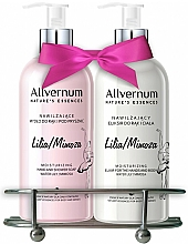 "Fragrances, Perfumes, Cosmetics Set ""Lily and Mimosa"" - Allverne Nature's Essences (soap/300ml + elixir/300ml)"